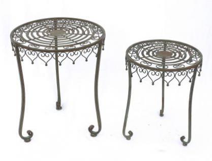 """Tisch 2er Set """" Malega"""" Beistelltisch 12189 Kaffeetisch aus Metall Couchtisch - Vorschau 3"""