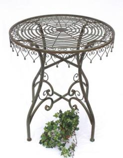 Tisch Gartentisch Malega 12184 Bistrotisch 68cm Beistelltisch Metall Eisen