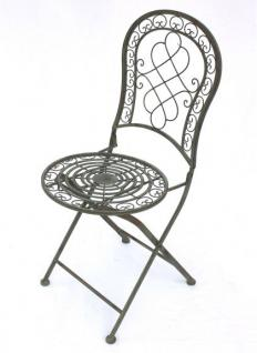 Stuhl Gartenstuhl Malega 12185 Klappstuhl 92cm aus Metall Schmiedeeisen - Vorschau 5