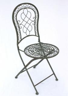 Stuhl Gartenstuhl Malega 12185 Klappstuhl 92cm aus Metall Schmiedeeisen - Vorschau 3