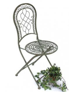 Stuhl Gartenstuhl Malega 12185 Klappstuhl 92cm aus Metall Schmiedeeisen