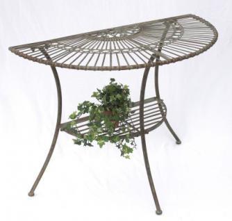 """Tisch Wandtisch """"Malega"""" 100531 Beistelltisch aus Metall 100cm Halbrund"""