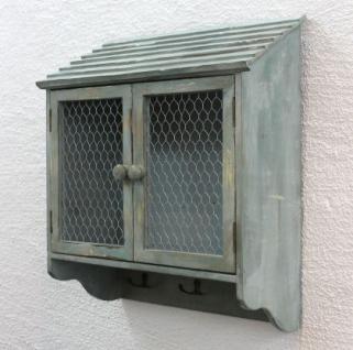Wandschrank 48cm Loft 12076 Schrank Wandregal Vintage Shabby Hakenleiste Haken - Vorschau 3