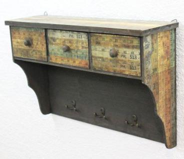 Wandschrank 59cm Loft 12050 Schrank Wandregal Vintage Shabby Hakenleiste Haken - Vorschau 5