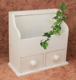 Minikommode Kommode mit 2 Schubladen 12236 Regal 28cm Schmuckkasten Shabby Regal - Vorschau 5
