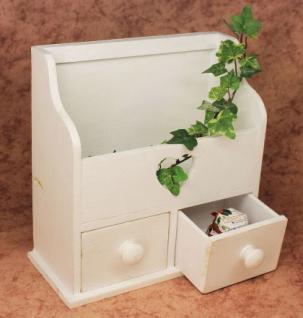 Minikommode Kommode mit 2 Schubladen 12236 Regal 28cm Schmuckkasten Shabby Regal - Vorschau 4