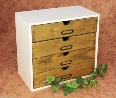 minikommode kommode mit 4 schubladen 12017 regal 32cm schmuckkasten shabby truhe kaufen bei. Black Bedroom Furniture Sets. Home Design Ideas