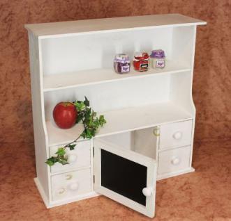 Küchenschrank 12238 Regal mit Notiztafel 55cm Schrank Shabby Buffet Küchenregal - Vorschau 2