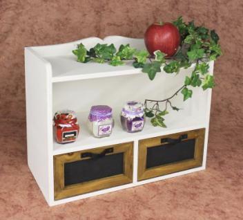 Wandregal Minikommode 12014 Regal 37cm Vintage Shabby Landhaus Küchenregal Weiß