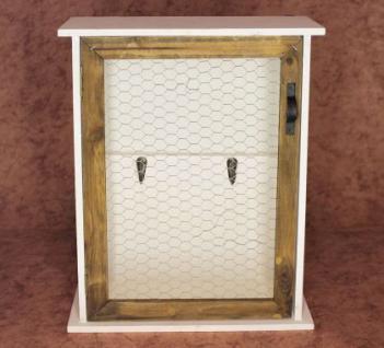 Wandregal Schlüsselkasten 12045 Regal 42cm Vintage Shabby Landhaus Küchenregal - Vorschau 4