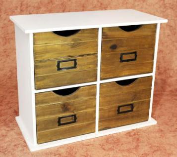 Minikommode Kommode mit 4 Schubladen 12018 Regal 46cm Schrank Shabby Truhe