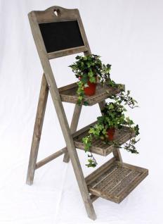 Blumentreppe 12061 aus Holz mit Kreidetafel H-110cm Blumenständer Pflanzentreppe