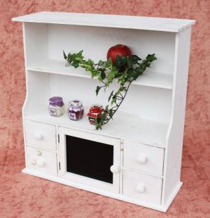Küchenschrank 12238 Regal mit Notiztafel 55cm Schrank Shabby Buffet Küchenregal - Vorschau 3