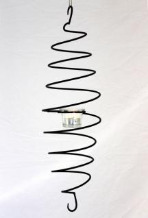 Teelichthalter Espiral hängend H-50cm D-15cm Windlicht Teelicht Leuchter Spirale