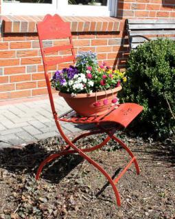 Stuhl Passion 3608 Gartenstuhl aus Metall Rot Blumenbank Blumenhocker - Vorschau 3