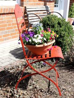 Stuhl Passion 3608 Gartenstuhl aus Metall Rot Blumenbank Blumenhocker - Vorschau 5