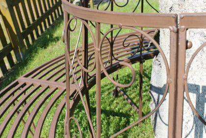 Rundbank aus Metall Bank 120749 Baumbank Sitzbank Gartenbank D-160cm H-84cm - Vorschau 4