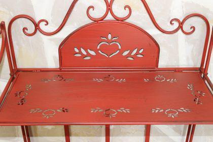Regal Passion aus Metall 123cm Rot 18142 Bücherregal Badregal Küchenregal - Vorschau 3
