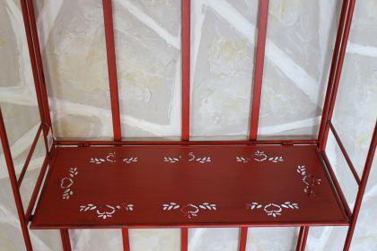 Regal Passion aus Metall 123cm Rot 18142 Bücherregal Badregal Küchenregal - Vorschau 4