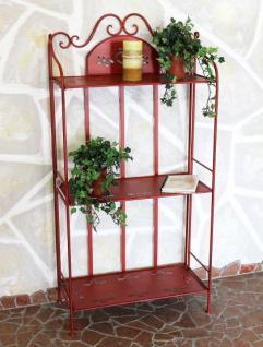 Regal Passion aus Metall 123cm Rot 18142 Bücherregal Badregal Küchenregal - Vorschau 2