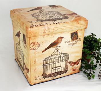 Hocker aus Kunstleder Sitzhocker 2207 Aufbewahrungsbox 40cm Sitzwürfel Truhe Korb