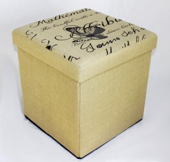 Hocker Faltbarer Sitzhocker 2148 Aufbewahrungsbox 40cm Sitzwürfel Truhe Korb - Vorschau 4