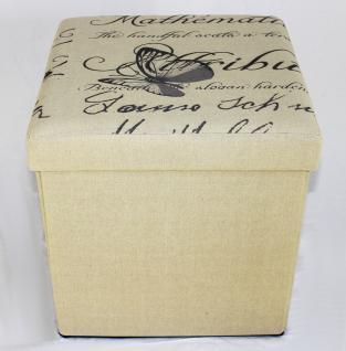 Hocker Faltbarer Sitzhocker 2148 Aufbewahrungsbox 40cm Sitzwürfel Truhe Korb - Vorschau 5