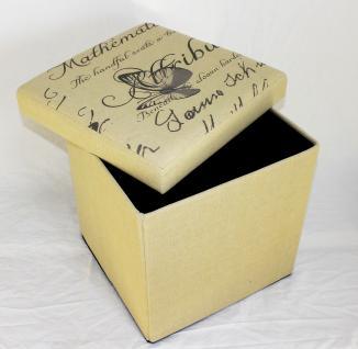 Hocker Faltbarer Sitzhocker 2148 Aufbewahrungsbox 40cm Sitzwürfel Truhe Korb - Vorschau 2