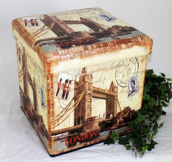 Hocker aus Kunstleder Sitzhocker 2216 Aufbewahrungsbox 40cm Sitzwürfel Truhe Korb