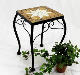 Blumenhocker Merano Mosaik 12015 Blumenständer 38cm Hocker Eckig Beistelltisch