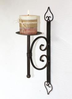 Wandkerzenhalter 12110 Kerzenhalter aus Metall Wandleuchter 41cm Kerzenleuchter