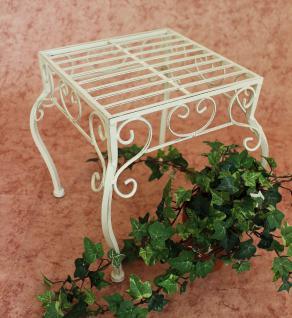 Blumenhocker Romance 30cm Blumenständer 20217 Pflanzenständer Beistelltisch Weiß