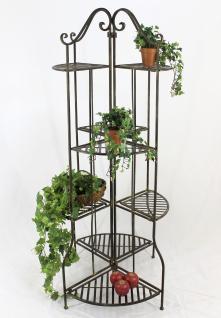 Blumentreppe 167cm Blumenregal 110243 Blumenständer Pflanzenständer Regal Braun - Vorschau 1