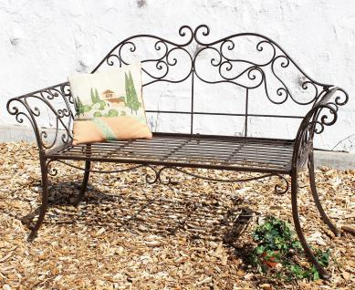 gartenbank 111183 2 braun bank 146cm aus schmiedeeisen metall sitzbank parkbank kaufen bei. Black Bedroom Furniture Sets. Home Design Ideas