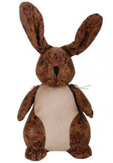 Türstopper Türhalter Hase Kaninchen aus Kunstleder Gewicht ca. 1Kg. 18cm