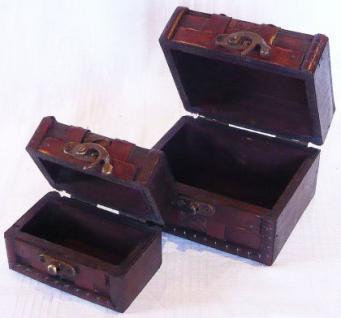 """2er Set Kästchen Schatulle Truhe Holztruhe Box """"S"""" Eck - Vorschau 3"""