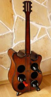 Weinregal Flaschenregal Flaschenständer E Gitarre aus Holz 105cm Nr. 1859
