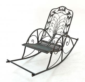 """Schaukelstuhl """"Relax"""" Liegestuhl aus Metall Sessel Schaukelbank Schwingsessel Relaxstuhl - Vorschau 1"""