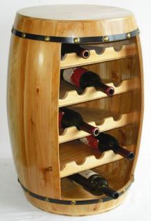 Weinregal Weinfass Fass aus Holz H-70cm Nr.0371 Flaschenständer Regal Naturlack