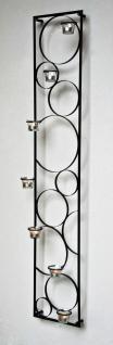Wandkerzenhalter Impress 130cm Kerzenhalter Metall Kerzenständer Teelichthalter