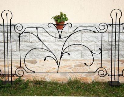 """Designer Gartenzaun """" Dekor"""" Zaunelement 90cm Zaun Metall Schmiedeeisen Steckzaun"""