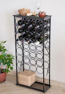 """Weinregal """" Rico"""" 100cm Flaschenständer aus Metall für 28 Flaschen Regal"""