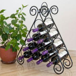 """Weinregal """" Kalina"""" Pyramide aus Metall für 10 Flaschen Flaschenständer Regal"""