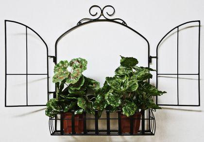 Wandblumenhalter Fenster Blumenständer aus Metall Wandregal Blumenregal Regal - Vorschau 1