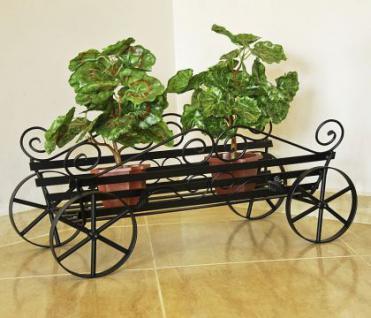 Blumenständer Kutsche 67cm Blumenregal Pflanzenständer Blumentreppe Blumenhalter - Vorschau 1