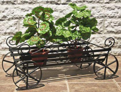 Blumenständer Kutsche 67cm Blumenregal Pflanzenständer Blumentreppe Blumenhalter - Vorschau 5