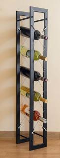 Designer Weinregal Pit 100cm aus Metall Flaschenständer Flaschenhalter Bar - Vorschau 5
