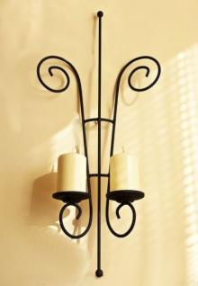 Wandleuchter Papillon Kerzenhalter Metall 60cm Wandkerzenhalter Kerzenständer