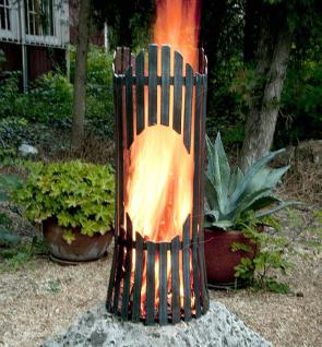 Feuersäule Albero Feuerkorb 80002 Feuerschale 60cm Metall Feuerstelle Säule - Vorschau 5