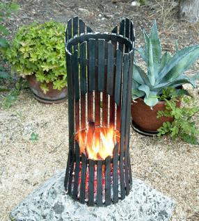 Feuersäule Albero Feuerkorb 80002 Feuerschale 60cm Metall Feuerstelle Säule - Vorschau 1